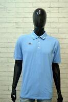 KAPPA Uomo Maglia Polo Blu Taglia XL Slim Maglietta Manica Corta Shirt Men's