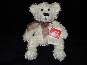 GUND HICCUP TEDDY BEAR SOFT TOY WHITE COMFORTER DOUDOU