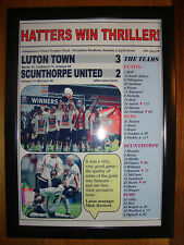 Luton Town 3 Scunthorpe United 2 - 2009 JPT final - framed print