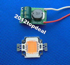 10w Constant Current LED Driver 12v + full spectrum led grow chip 380-840nm 10st