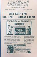 GREAT IMPOSTER Gina Lollobrigida FASY & SEXY 1961 handout Edgewood theatre (MD)