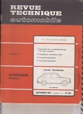 VINTAGE Revue technique automobile N°257  Septembre 1967 N°257 AUTOBIANCHI