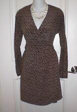Paul & Joe Sister Faux Wrap Silk Printed Embossed Dress~38 /US 6 M