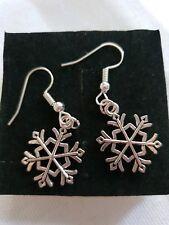 christmas earrings snowflake