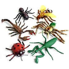 Set of 6 Plastic Insect Bug Spider Toys - Assorted Designs - Childrens Gifts