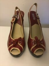 Michael Kors Leather Buckle Platform Sandals size 10 New