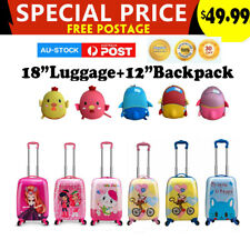"kids 18"" luggage and 12"" bags Travel Trolley Suitcase Bags Gift"