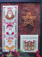 By The Bay Needleart SANTA'S BLESSINGS 4 Cross Stitch Charts ~ Christmas/Xmas