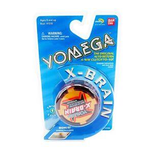 Vintage 90s 1999 BANDAI YOMEGA X-BRAIN Red Yo-Yo in Original Package NEW NOS NIP