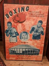 Boxing Poster Wallace vs Thomas Marciano Referee