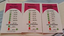 Monopoly Revolution Board Game Spare  Replacement PINK property cards (3)