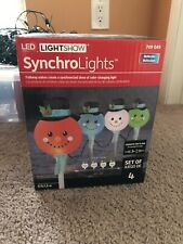Gemmy Christmas Syncrolights Snowman Lighted Pathway Markers Lightshow LED