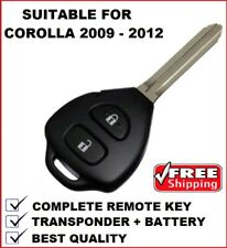 Remote Car Key Suitable for Toyota Corolla 2009 2010 2011 2012 G Key