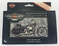 Harley-Davidson Motorcycles 95th Anniversary Collectible Tin & Playing Cards NEW