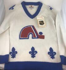2bc135d26 Quebec Nordiques NHL VINTAGE NOS w tags acrylic sweater Size XXS
