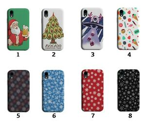 Christmas Pattern Phone Case Cover Santa Design Presents Snowflakes Snow 8187