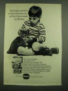1970 Borden Calo Cat Food Ad - Have a Chat With Your Cat