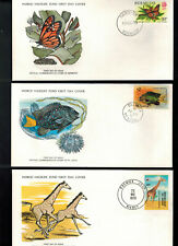 """Fdc-1215 *Lot Of 7 *1978 World Wildlife Fdc""""s with cards"""