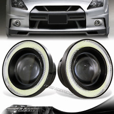 "3.5"" White Angel Eyes Halo Projector Lens LED COB Bulb DRL Fog Light For Pontiac"