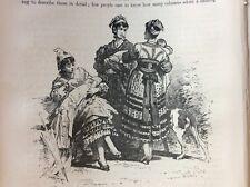 J1j placa de libro de materiales efímeros Victoriano 1874 Madrid enfermeras en el Museo del Prado