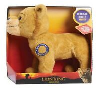 Disney Lion King Live Action Animated Roaring Simba Soft Plush