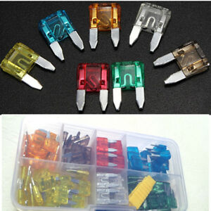 120x MINI Slip-on Vehicle Fuse 5 7.5 10 15 20 25 30 AMP for Car Fuse holder box