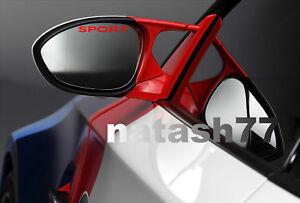 Sport Rear Side View Mirror Racing Car Vinyl Decal Sticker emblem logo Set of 3