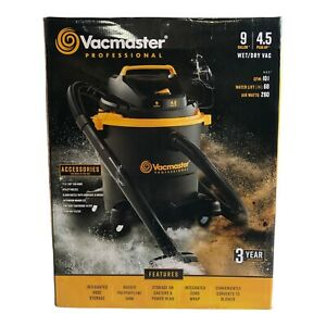 NEW Vacmaster Professional 9-Gallon 4.5 HP Corded Portable Wet/Dry Shop Vacuum