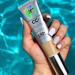 IT Cosmetics CC+ Color Correcting Full Coverage Cream SPF50+, Medium or Light