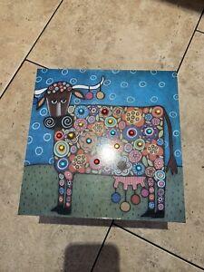 Lidded Storage Box, Cow Design