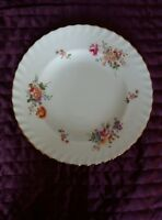 Royal Crown Derby English Bone China Posies  fluted (1 Dinner plate) 26 cm