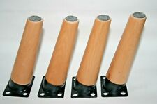 4pcs Solid Wood Coffee Table Legs Sofa Cabinet DIY Fixing Plates Fast Delivery