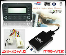 Yatour Digital CD changer 12pin for VW Audi Skoda Seat Quadlock SD USB Adapter