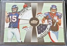 2010 Topps Prime 2nd Quarter Combo Relic SP #/355 Time Tebow & Erick Decker