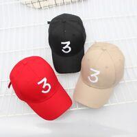 3 Cappellini Snapback Tide Baseball Cap Popular Chance The Rapper Cappelli #ST4