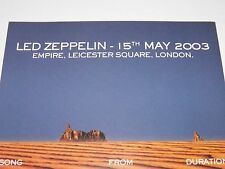 Led Zeppelin - DVD Premiere Programme London 15 May 2003 RARE