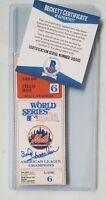 BUD HARRELSON SIGNED BECKETT BAS COA BGS AUTOGRAPHED NEW YORK METS MLB BASEBALL