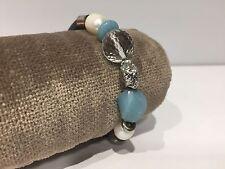 Pulsera Cuero con Perlas + Pepita Plata & Cuarzo - Pearl Quartz Silver Bracelet