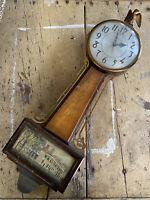 Vintage 40's 50's Quartz  Sessions Mt. Vernon Model 2W Banjo Clock Working