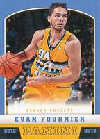 Evan Fournier 2012-13 Panini #253 Nuggets RC Rookie Basketball Card
