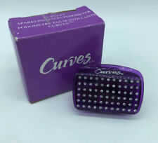 Curves Sparkling Steps Pedometer NEW In Box Made By Avon Purple Sparkles