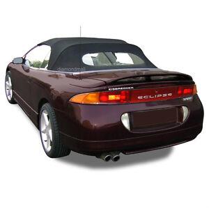 Mitsubishi Eclipse 1995-99 Convertible Soft Top & Heated Glass Black Twill