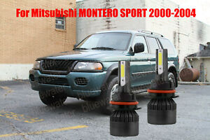 LED For MONTERO SPORT 2000-2004 Headlight Kit 9007 HB5 White Bulbs Hi-Low Beam