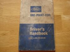 RILEY ONE-POINT-FIVE DRIVER'S HANDBOOK