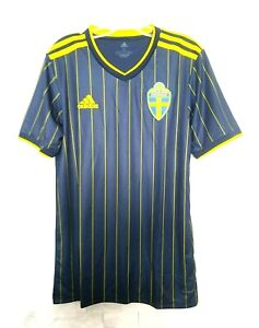 adidas 2020-21 SWEDEN AWAY JERSEY (FH7618) NAVY-YELLOW