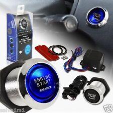 LED Push Start Stop Button Engine Ignition Switch Kit Honda Evo 200sx r32 r33