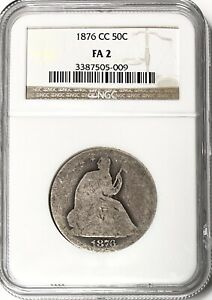 USA - Seated Liberty Half Dollar - 50 Cents - 1876CC - NGC - Fair 2