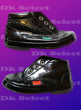 Pair of Kickers black patent leather boots 12-18 months