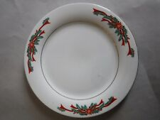 Tienshan Fine China Poinsettia Ribbon Christmas Holiday Plate