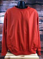 Men's TOMMY HILFIGER GOLF Orange Pullover Windbreaker Jacket Size L